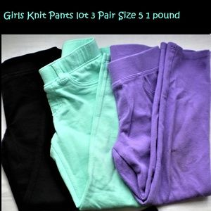 Girls knit pants lot